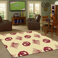 Oklahoma University Repeating Logo Rug