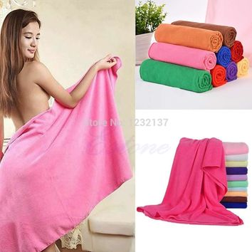 L109Durable Fast Drying Microfiber Bath Towel Travel Gym Camping Sport  10 colors