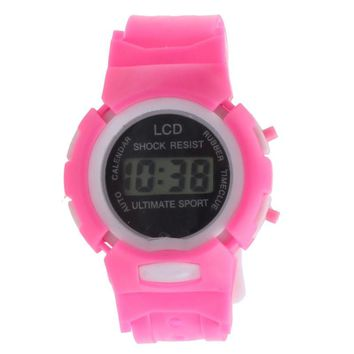 Boys Girls Students Time Electronic Digital LCD Wrist Sport Watch