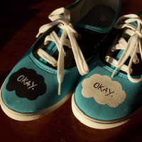 TFiOS Painted Shoes - Fandom - John Green - Fan Art - The Fault in Our Stars - Hazel Grace - Augustus Waters - OKAY - DFTBA - NerdFighter
