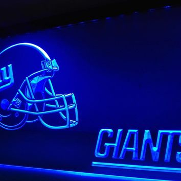 LD329- NY New York Giants Helmet NR   LED Neon Light Sign     home decor  crafts