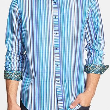 Men's Robert Graham 'Exmoor' Classic Fit Stripe Sport Shirt,