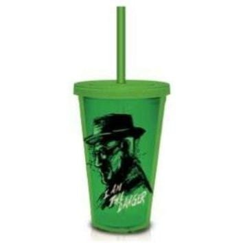 Breaking Bad AMC Walt I Am The Danger Carnival Tumbler Cup with Lid and Straw