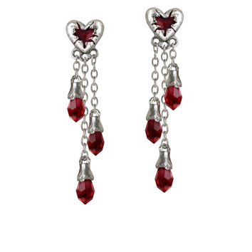 Alchemy Gothic Bleeding Heart Earrings