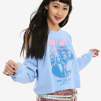 Pink Floyd Blue & Pink Girls Cold Shoulder Cropped Sweatshirt
