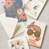 Paper Crown + Rifle Paper Co. Rifle Paper Co. Cards in Pink Size: Set Of 8 Books