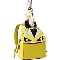 Fendi - Mini Monster Nylon, Leather & Fur Backpack Key Charm - Saks Fifth Avenue Mobile
