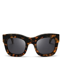 IllestevaHamilton Oversized Thick Rim Square Sunglasses, 49mm