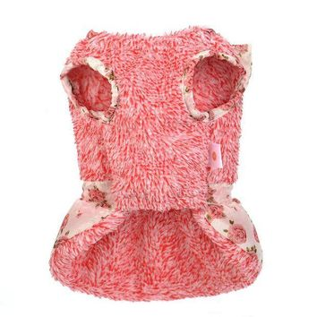 DCCK8JO dog clothes for small dogs girl dresses dogs pets clothing winter dog clothes chihuahua