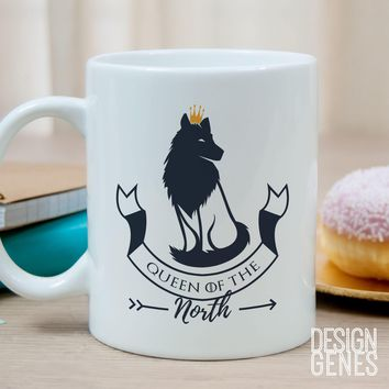 Queen of the North mug Game of Thrones mug Sansa Stark mug