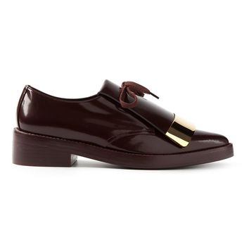 Marni oversized tongue lace-up shoes