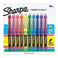 Sharpie Liquid Pen-Style Highlighters, 10 Colored Highlighters
