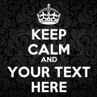 """Keep Calm and """"Your Text Here"""" Custom Personalize Text Vinyl Sticker for Car, Wall or Window, Art Decal Decor DIY Mural! Free shipping!"""
