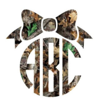 Camo Monogram Decal - Initial - Monogram Decal - Real Tree - Country - Southern - Perfect for Yeti, Car, Jeep, Laptop, RTIC, Wineglass, etc!