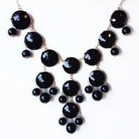 Bubble Necklace,Statement Necklace, Bubble Jewelry(Fn0508-Black)