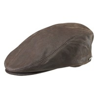 Men's Stetson 'Quilcene' Leather Cap