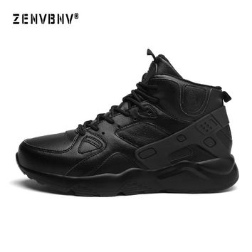 Zenvbnv Comfortable Basketball Shoes For Men High Top Air Sports Cushion Male Sneakers Leather Trainers Basket Big Size 39-46