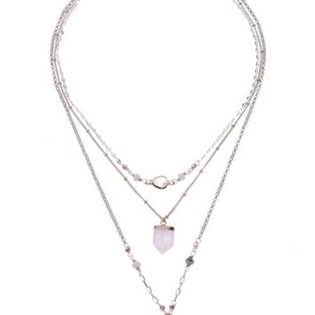 Nakamol Design Quartz Pendant Layered Necklace | Nordstrom
