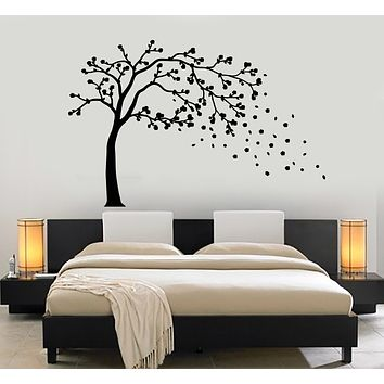 Vinyl Wall Decal Japanese Style Tree Sakura Branch Asian Decor Stickers Mural (g1011)