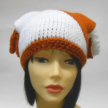 Orange and White Cap Colorblock