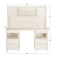 Beadboard Basic Desk + Hutch