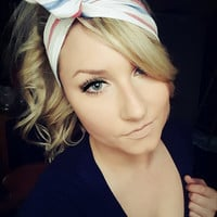 American  Stripes Red White & Blue  Dolly Bow