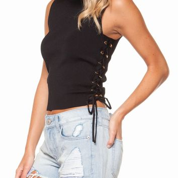Love-Laces Top - Black by Dex