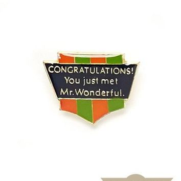 Mr. Wonderful Vintage Pin