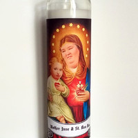 Prayer Candle, Mother June and St. Boo Boo, Pop Culture, Kitsch, Religious Humor, Celebrity Saint