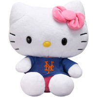 New York Mets 8'' Hello Kitty Plush Toy - http://www.shareasale.com/m-pr.cfm?merchantID=7124&userID=1042934&productID=540318552 / New York Mets