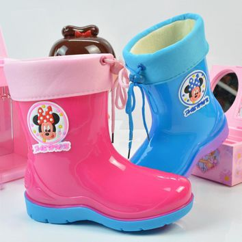 Girls' Winter Boots rain plus cotton warm rubber toddler rain best