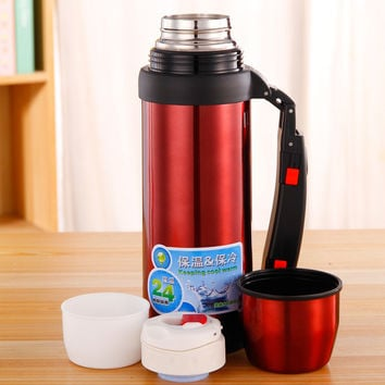 NEW Stainless Steel Drinkware Vacuum Thermos 1L for Outdoor Fun & Sports Thermal Flask Coffee & Beverage Water Bottle Hot Cold