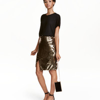 H&M Sequined Wrap Skirt $49.99