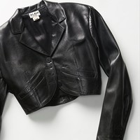 Free People Vintage 1980s Cropped Leather Jacket