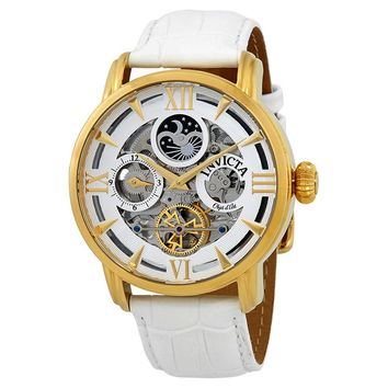 Invicta Objet D Art Automatic Silver Mens Watch 22652