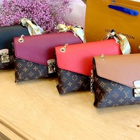 Free Shipping-LV New Flap Chain Bag Shoulder Bag