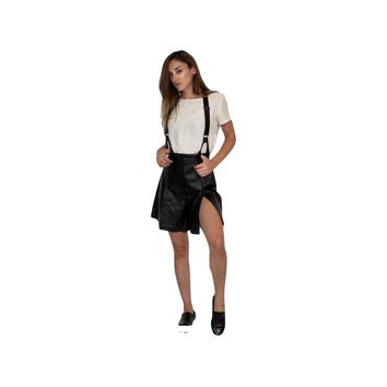 CHARLI LEATHER SHORTS W/ SUSPENDERS