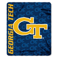 Georgia Tech YellowJackets NCAA Light Weight Fleece Blanket (Mark Series) (50inx60in)
