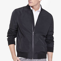 Black Lightweight Bomber Jacket from EXPRESS