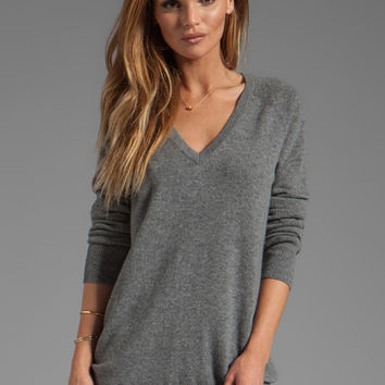 Equipment Ashver V Neck Sweater in Heather Grey from REVOLVEclothing.com