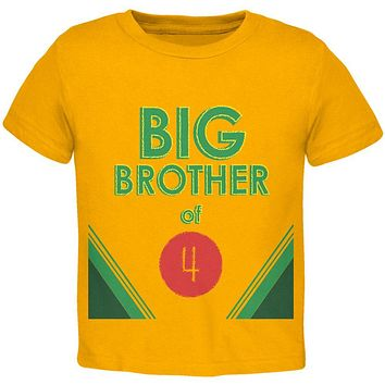 Crayon Big Brother of 4 Toddler T Shirt