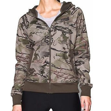 Under Armour UA Camo Full Zip Hoody - Women's Ridge Reaper Camo Barren / Hear...