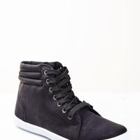 FAUX SUEDE HIGH TOP SNEAKER - SALE