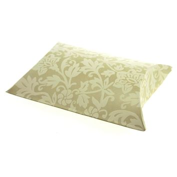 Damask Embossed Favor Boxes, 4-1/2-Inch, 12-Piece, Pillow