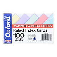 Oxford Index Cards Ruled 3 x 5 Assorted Pastels Pack Of 100 by Office Depot