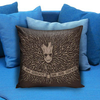 I Am & We Are groot the guardians of galaxy Pillow case