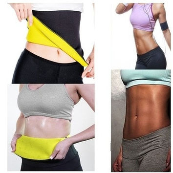 Hot Thermo Sweat Neoprene Body Shaper Slimming Belt Waist Trainer Cincher Girdle Tummy Control Corset For Sport Running Weight Loss Fat Burning Fitness Women & Men [9302683402]