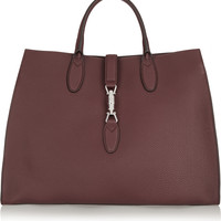 Gucci - Jackie Soft medium textured-leather tote
