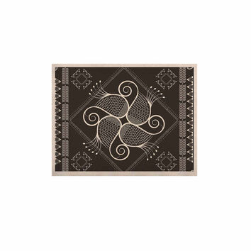 "Famenxt ""Paisley Into The Dreams Dark"" Gray Digital KESS Naturals Canvas (Frame not Included)"