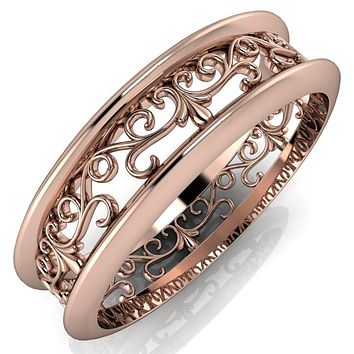 Marie Vines Filigree Eternity Wedding Band